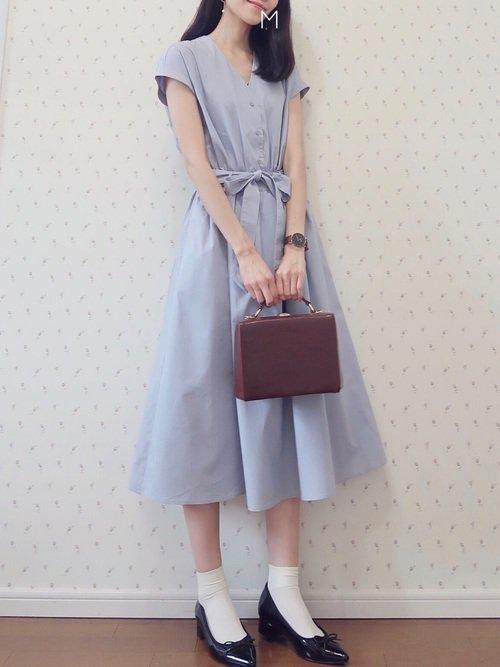 お嬢様風の服装:ワンピースを使ったコーディネート【1】