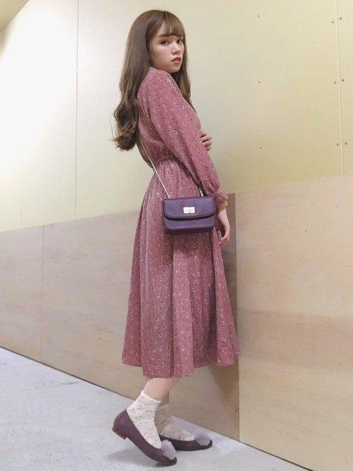 お嬢様風の服装:ワンピースを使ったコーディネート【2】