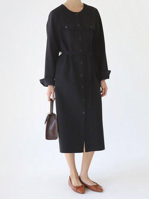 二次会のドレス黒シンプル