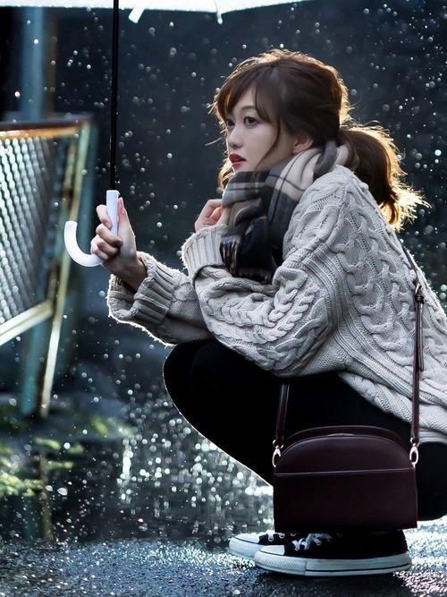 冬のストールコーデイメージ画像