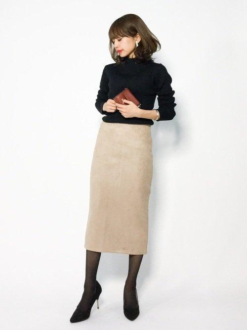 ■秋■スカートを使ったオフィスカジュアルコーデ【2】