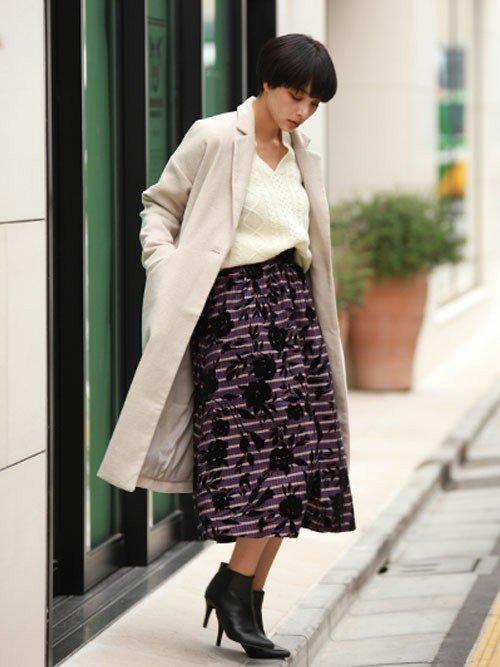 ■冬■スカートを使ったオフィスカジュアルコーデ