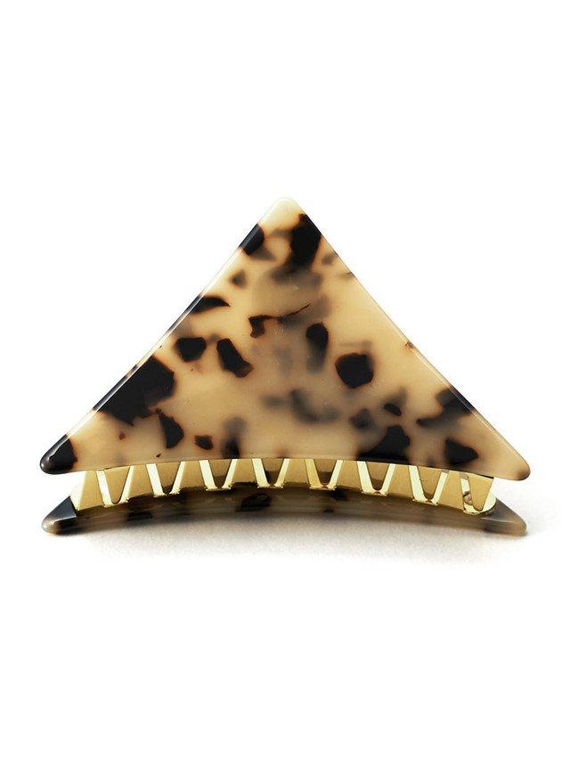 レオパード柄三角クリップ