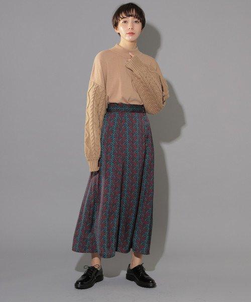 総柄フレアスカート