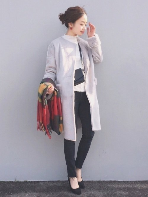 最低気温が気温4度の日はムートンコートでぽかぽかな服装を楽しもう