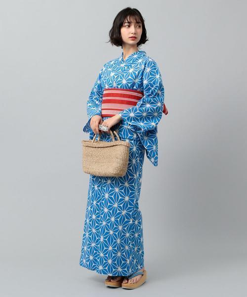 麻の葉柄浴衣コーデ