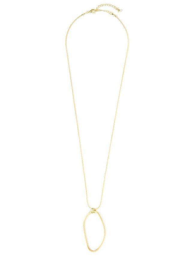 真鍮変形サークルデザインネックレス