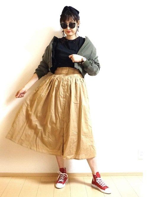 ジャンパースカートで作る70年代アメリカンスタイル